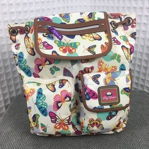 Lily Bloom Riley Butterfly Backpack NWT